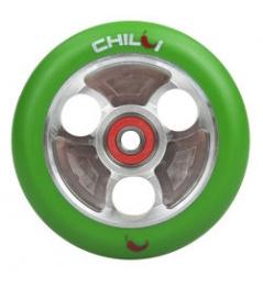 CHILLI Parabol 100 mm grün / silberne Rolle
