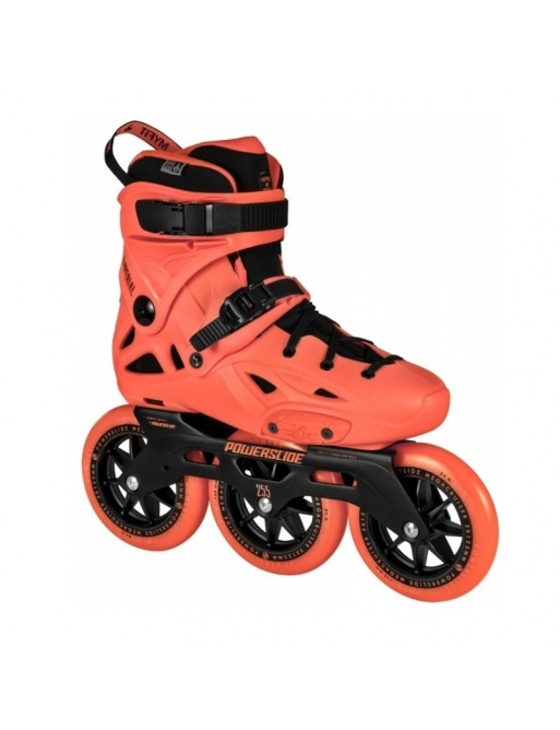 Powerslide Imperial Megacruiser 125 Neon Orange Rollschuhe