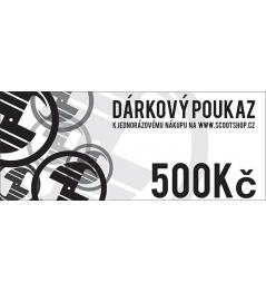 Geschenkgutschein im Wert von 500 CZK