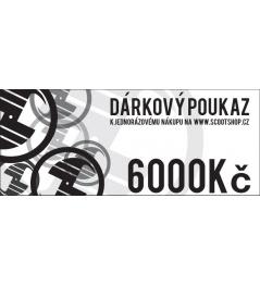 Geschenkgutschein im Wert von 6000 CZK
