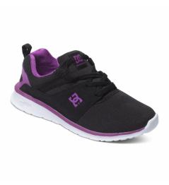 Boty Dc Heatrow black/purple 2016 dětské vell.25,3cm