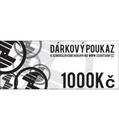 Geschenkgutschein im Wert von 1000 CZK
