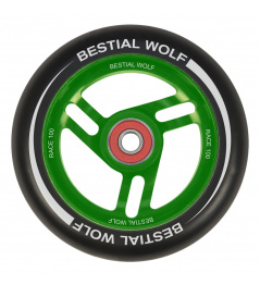 Bestial Wolf Race 100 mm Rad schwarz-grün