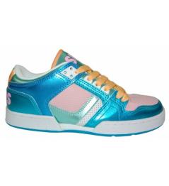 Boty Osiris NYC 83 LOW 10 W.blue/pink/white vell.UK5