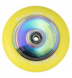 Metallkernscheibe 110 mm Rollen gelb