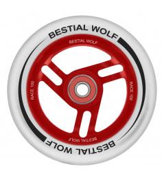 Bestial Wolf Race 100 mm weißes weißes Rad