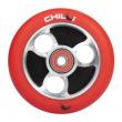 CHILLI Parabol 100 mm rot / schwarzes Rad