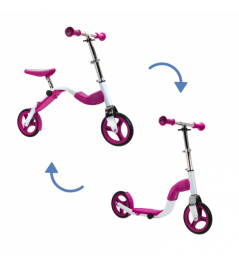 Scoobik Roller und Reflektor in einem rosa