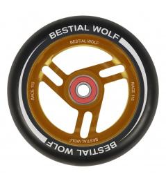 Bestial Wolf Race 110 mm Rad schwarz orange