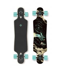 Street Surfing Wolf - artist series longboard
